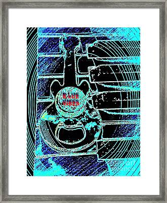 Blue Music Vibes By Jasna Gopic Framed Print by Jasna Gopic
