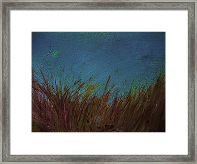 Blue Framed Print by Nereida Slesarchik Cedeno Wilcoxon