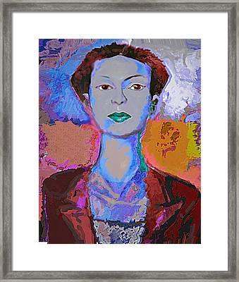 Blue Nev Framed Print by Noredin Morgan