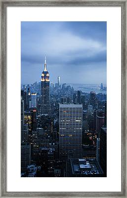 Blue New York Framed Print