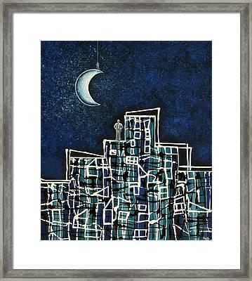 Blue Night Framed Print by Graciela Bello