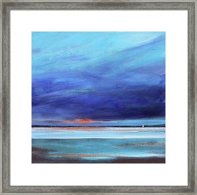 Blue Night Sail Framed Print by Toni Grote