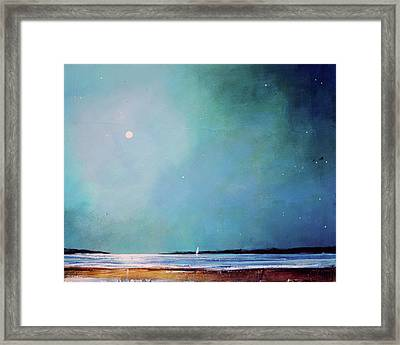Blue Night Sky Framed Print by Toni Grote