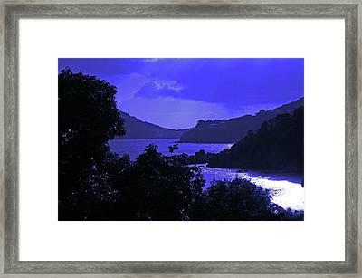 Blue Nights Framed Print