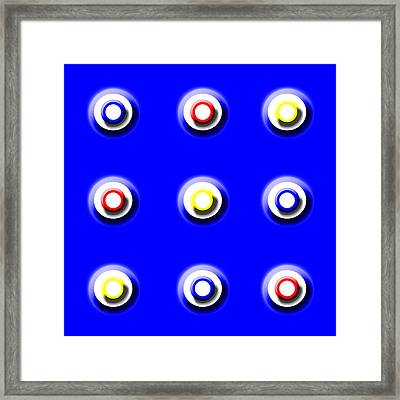 Blue Nine Squared Framed Print
