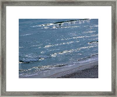 Blue Noise Framed Print by Theresa Campbell