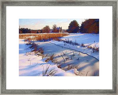 Blue Noon Framed Print by Betsy Zimmerli
