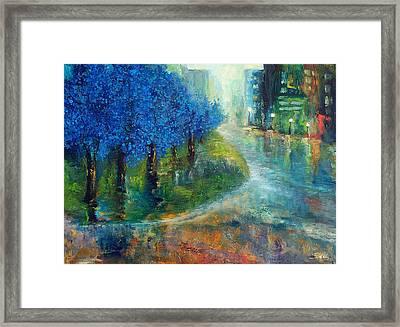 Blue Noon Framed Print by Laura Swink