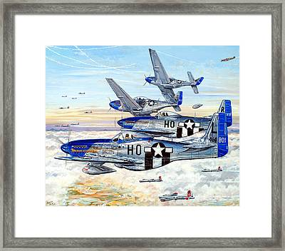 Blue Nosed Bastards Of Bodney Framed Print