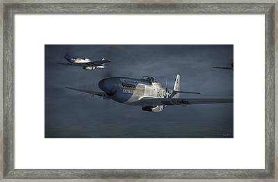 Blue Nosers Framed Print by Robert Perry