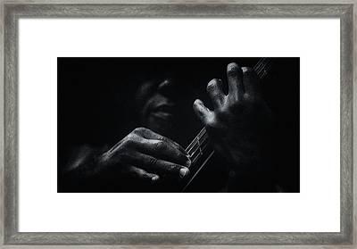 Blue Notes Framed Print