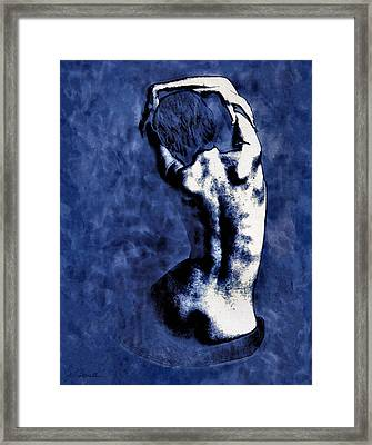 Blue Nude After Picasso Framed Print by Joe Bonita