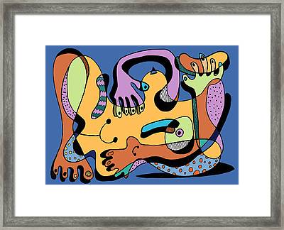 Blue Nude Number Two Framed Print by Geoff Greene