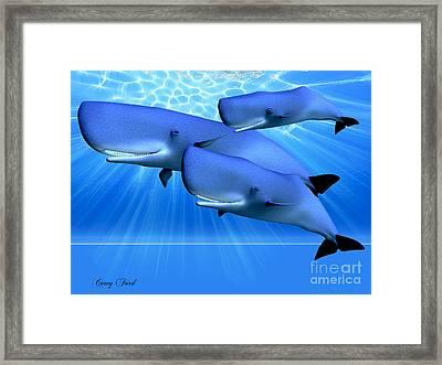 Blue Ocean Framed Print by Corey Ford