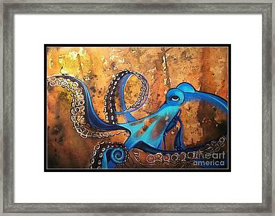 Blue Octopus Framed Print by Elizabeth Dixon