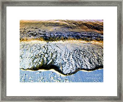 Blue Oil Framed Print