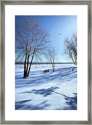Framed Print featuring the photograph Blue On Blue by Phil Koch