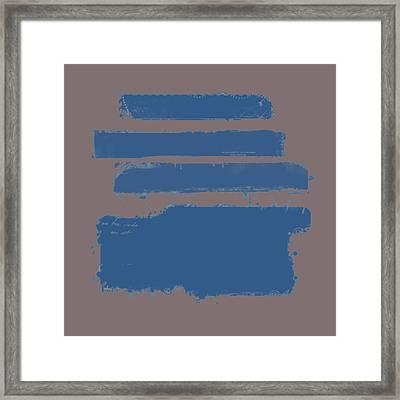 Blue On Brown Framed Print