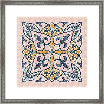 Blue Oriental Tile 01 Framed Print