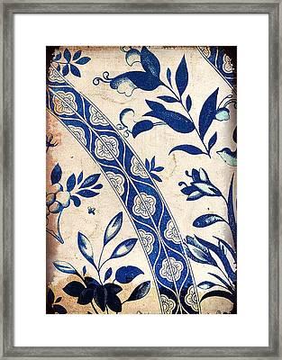 Blue Oriental Vintage Tile 04 Framed Print