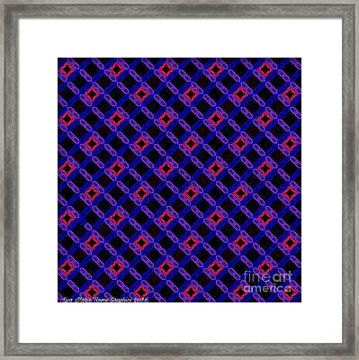 Blue Overlay Framed Print