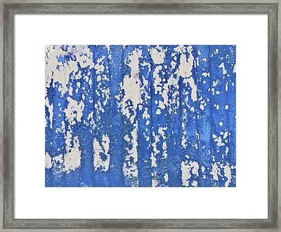 Blue Painted Metal Framed Print