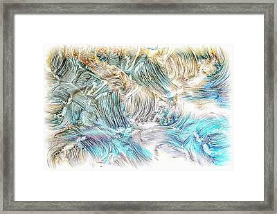 Framed Print featuring the photograph Blue Palette by Athala Carole Bruckner