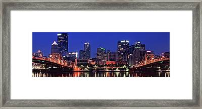 Blue Panoramic Framed Print by Frozen in Time Fine Art Photography