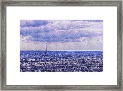 Blue Paris Framed Print