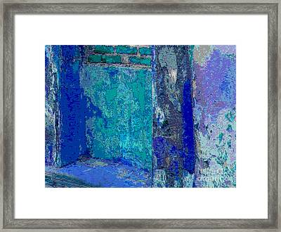 Blue Passage Detail 1 By Michael Fitzpatrick Framed Print
