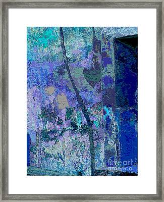 Blue Passage Detail 2 By Michael Fitzpatrick Framed Print