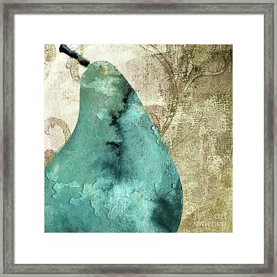 Blue Pear Framed Print