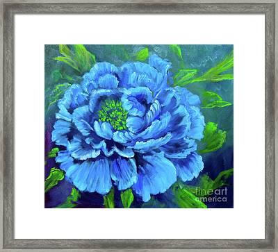 Blue Peony Jenny Lee Discount Framed Print