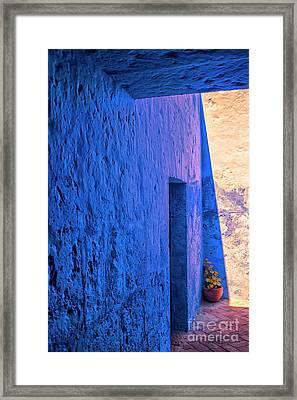 Blue Peru Framed Print by Patricia Hofmeester