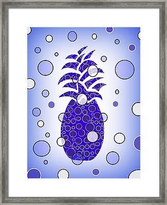 Blue Pineapple Framed Print