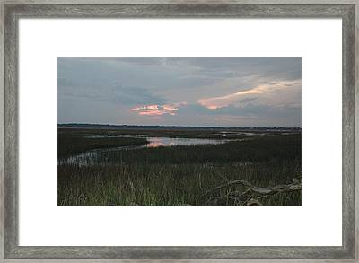 Blue Pink Framed Print