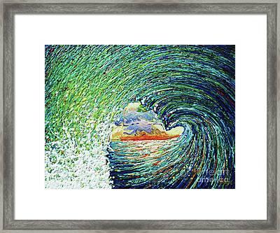 Blue Pipeline Framed Print by Gayle Utter