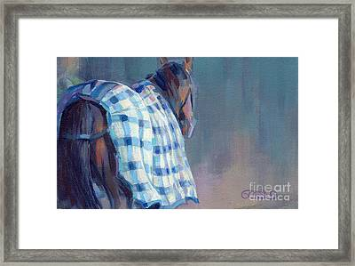 Blue Plaid Framed Print by Kimberly Santini