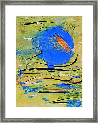 Blue Planet Abstract Framed Print