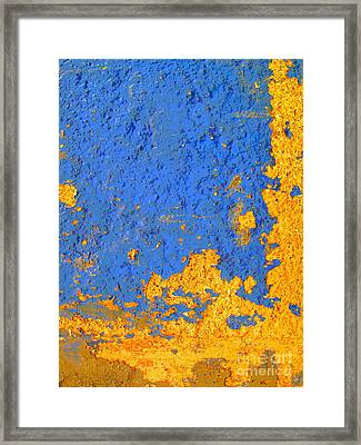 Blue Plaster 3 By Darian Day Framed Print