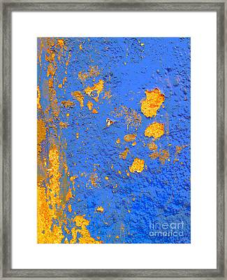 Blue Plaster 4 By Darian Day Framed Print