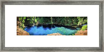 Framed Print featuring the photograph Blue Pool by Cat Connor