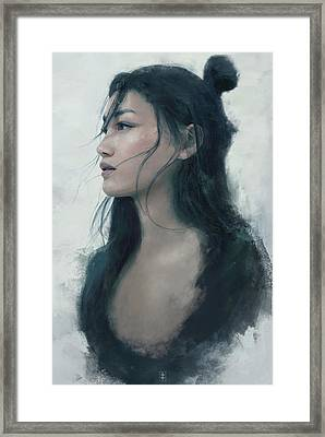 Blue Portrait Framed Print