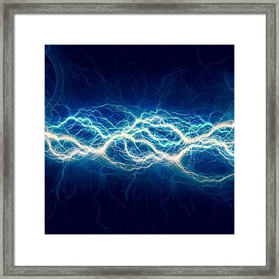 Blue Power Framed Print by Martin Capek