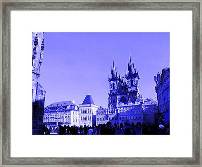 Framed Print featuring the photograph Blue Praha by Michelle Dallocchio