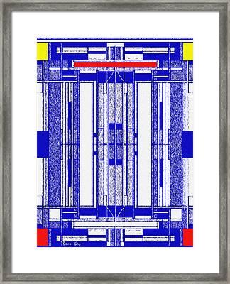 Blue Print Framed Print by Donn Kay