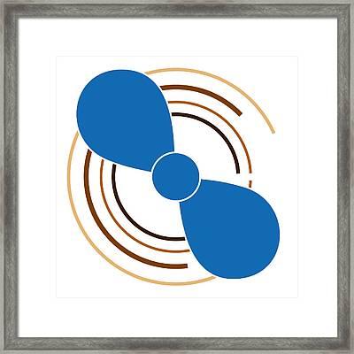 Blue Propeller Framed Print