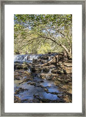 Blue Puddle Falls Framed Print by Ricky Dean