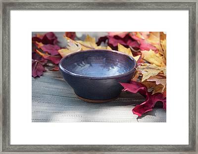 Blue Purple Bowl  Framed Print