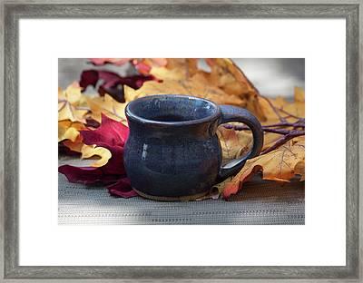 Blue Purple Mug Framed Print